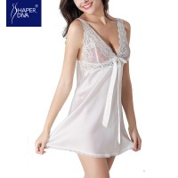 Burvogue Lace Nightdress Sleepwear Baby Dolls Lingerie Babydoll Silk Chemises Chemises Women Sexy Lingerie Nightwear Baby Dolls