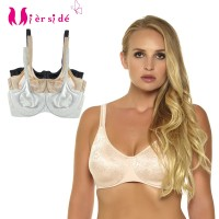 Mierside 2612 3 Pieces Plus size No-padded Bra Breathable Women Underwear Strappy Underwire Bralette White/Beige/Black