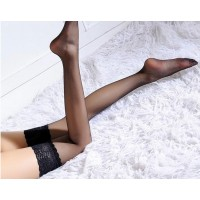 Thin Ultrathin Sexy Women color Tights Summer Stockings Lace nylon Top Thigh High Ultra Sheer Knee High Stockings Lingerie